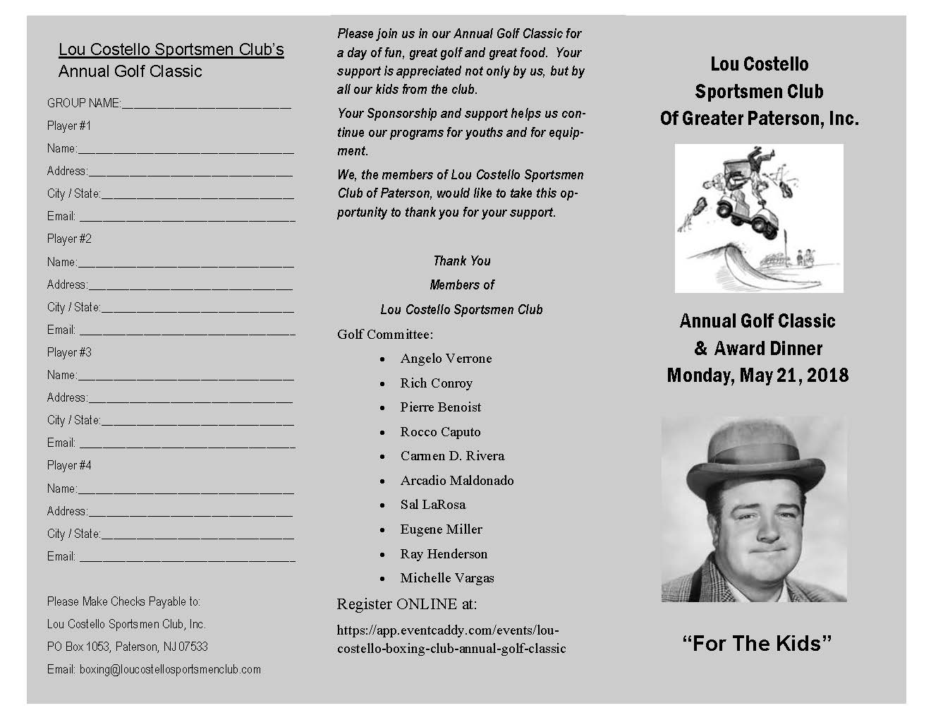 Lou Costello Boxing Club Annual Golf Classic gallery image #5