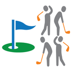 Image of Hole Sponsor with Golfers