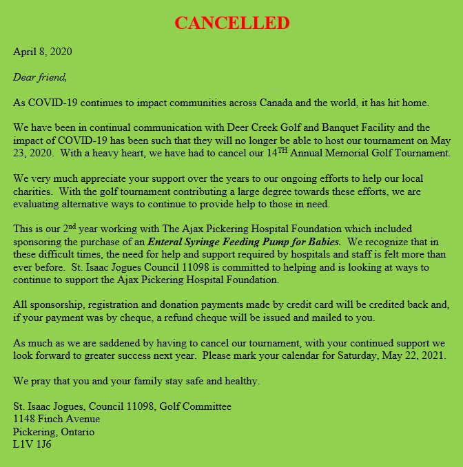 Tournament postponed due to COVID-19.