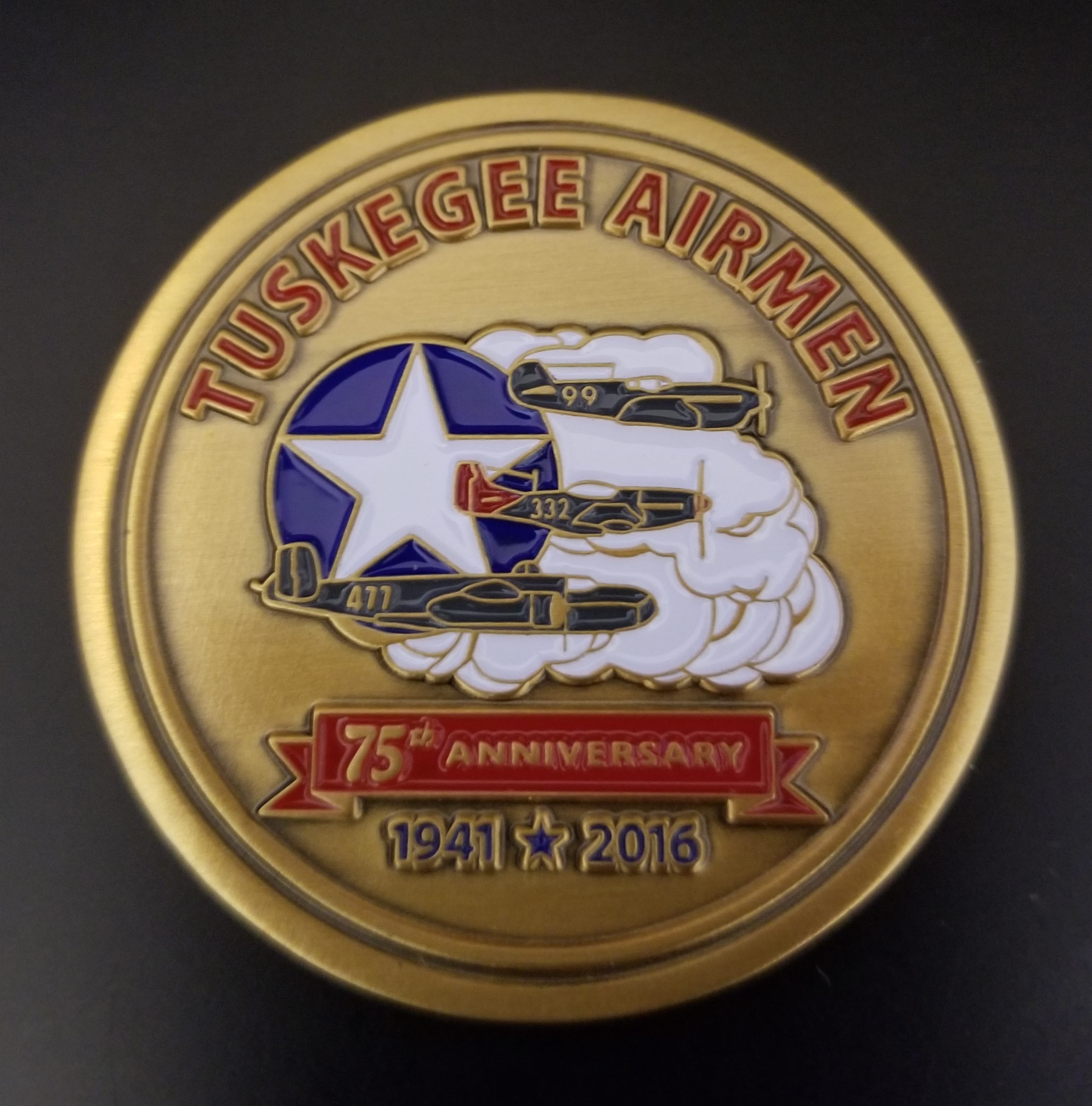 Store Item: Tuskegee Airmen 75th Anniversary Challenge Coin