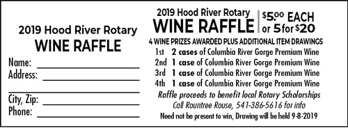 Store Item: Wine Raffle Ticket (1) - Hood River Rotary Golf