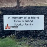 """Image of Personal Sponsor Encouragment Sign - In Honor of """"persons name"""""""