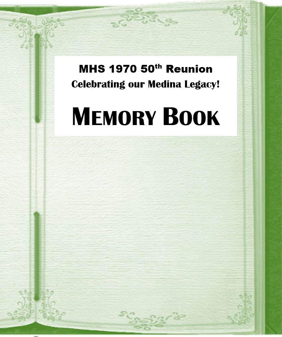 Medina High School 1970 50th + 1 Reunion ~ July 14-18, 2021 - Default Image of Memory Book