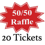 Image of (20) 50/50 Tickets