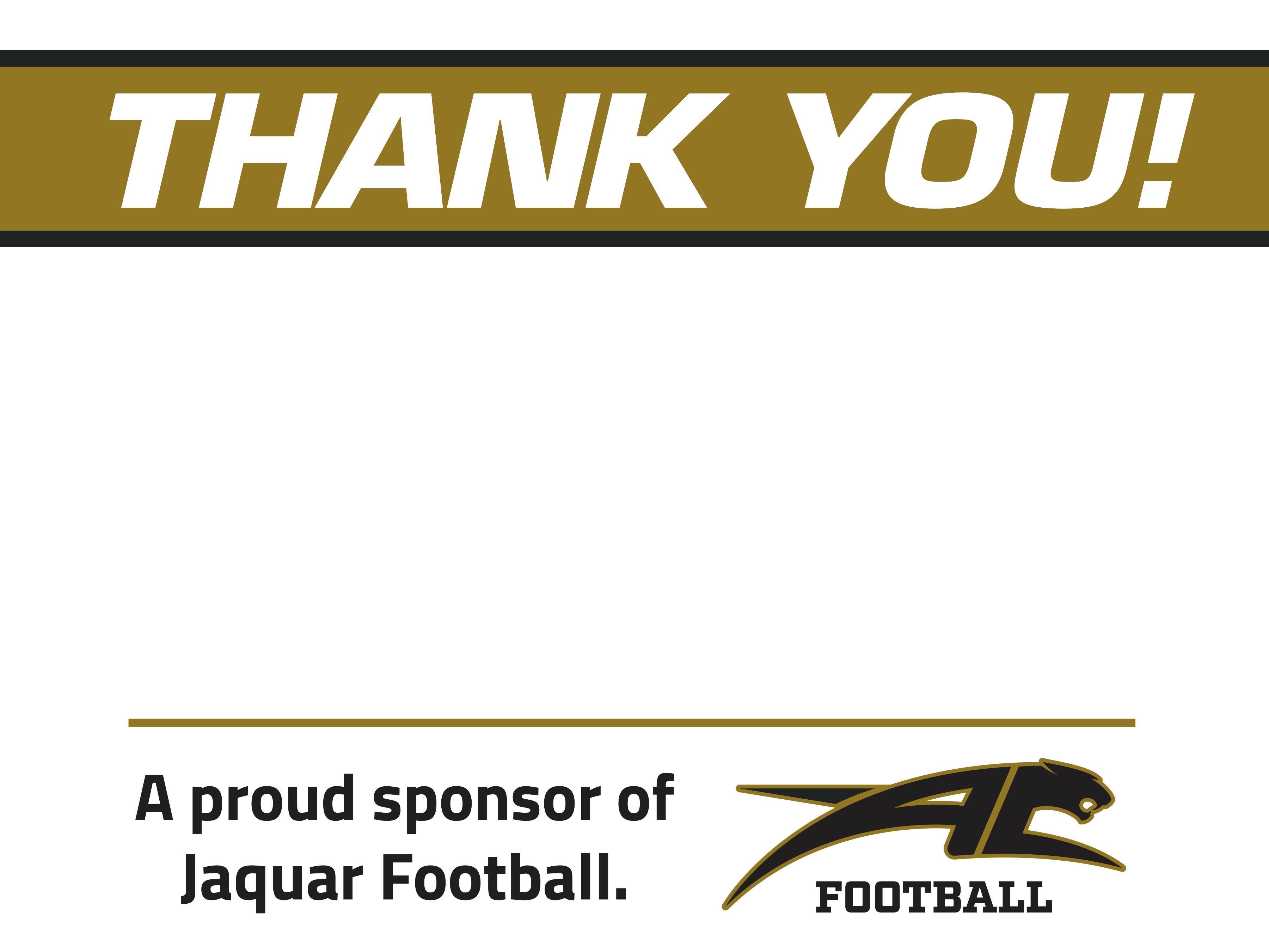 Jaguar Football Golf Tournament - Default Image of Black & Gold Sponsor