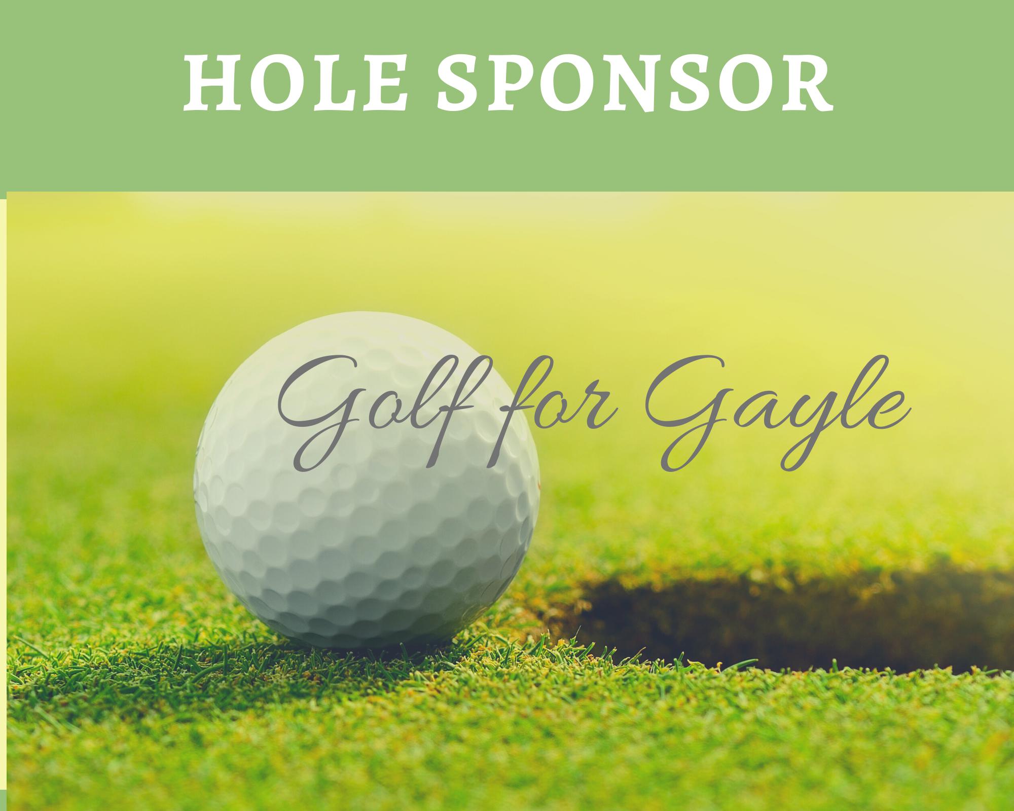 Gayle Newgren Charity Golf Tournament 2021 - Default Image of Hole Sponsor