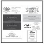 """Image of Business Card Horizontal Page Souvenir Journal Ad (3.5""""w x 2""""h)"""