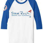 Image of 3/4 Sleeve Baseball Tee (Blue/White)