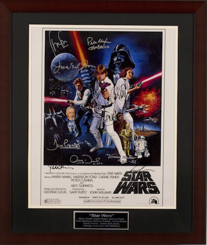 Store Item Quot Star Wars Episode Iv A New Hope Quot Poster 8 Autographs Desert Manna 1st Annual No Kid Hungry Golf Open