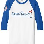 2019 Steve Resch Memorial Golf Tournament - Default Image of 3/4 Sleeve Baseball Tee (Blue/White)