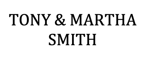 Platinum Sponsor - Tony & Martha Smith  - Logo