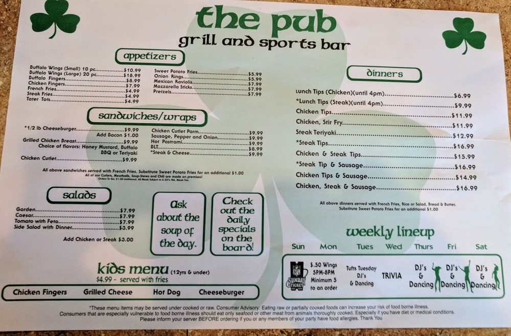 Hole Sponsor  - The Pub  - Logo