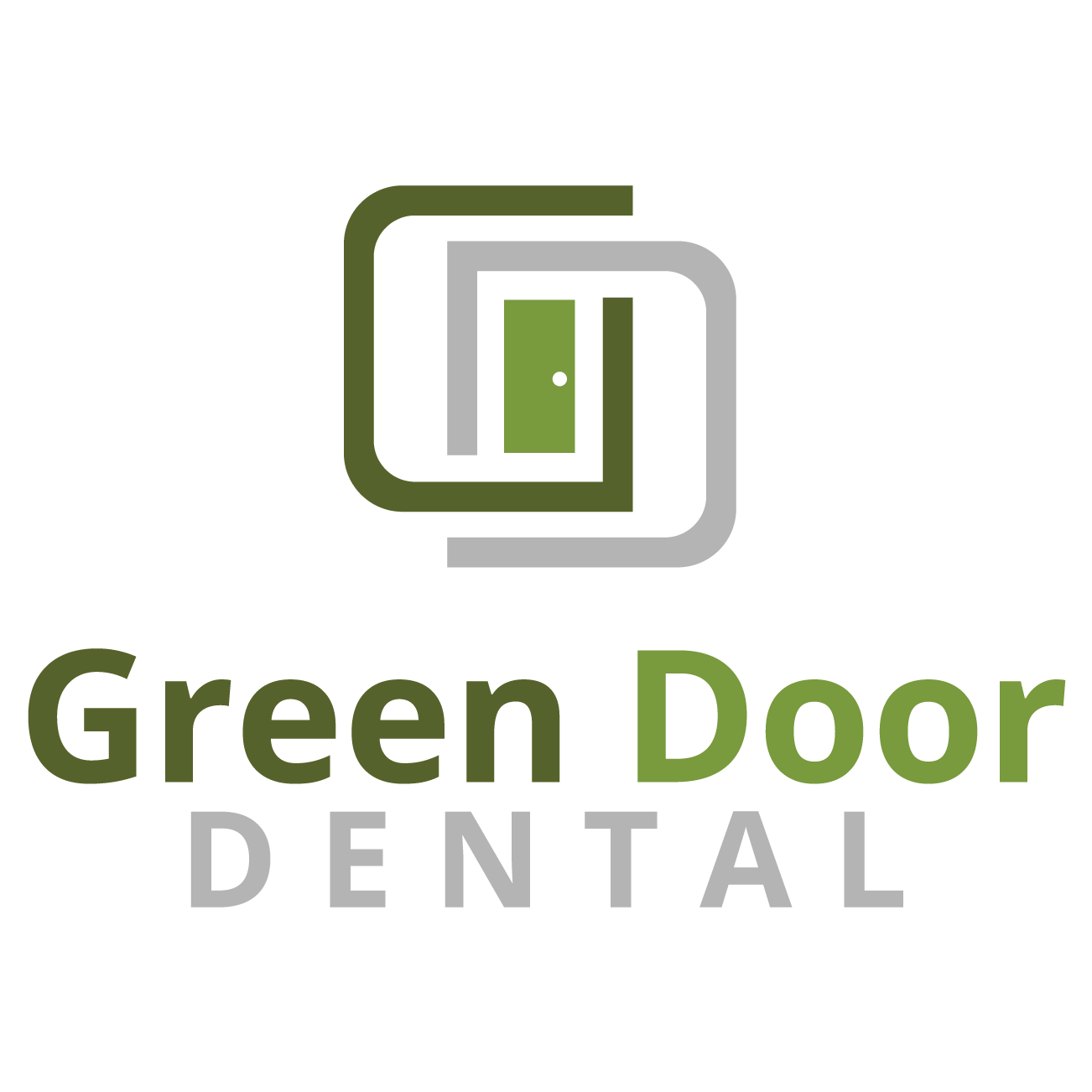 Silver - Green Door Dental - Logo