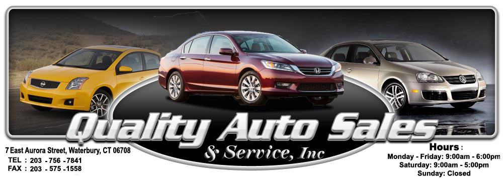Lunch Sponsor - Quality Auto Sales & Service, Inc. - click here to go directly to our web site - Logo