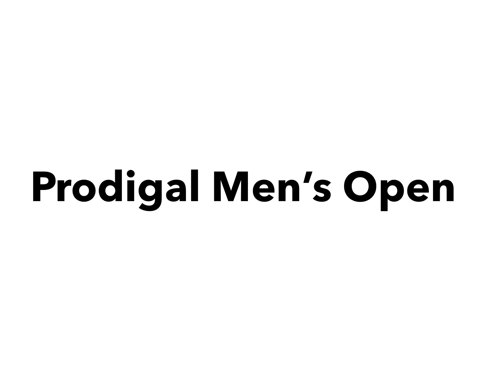 Prodigal Men's Open