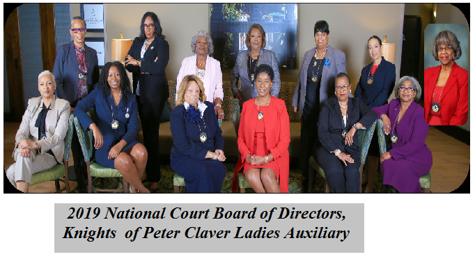 2019 National Court Board of Directors, Knights of Peter Claver Ladies Auxiliary