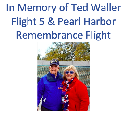Freedom Sponsors - In Memory of Ted Waller –  Flight 5 & Pearl Harbor Remembrance Flight - Logo