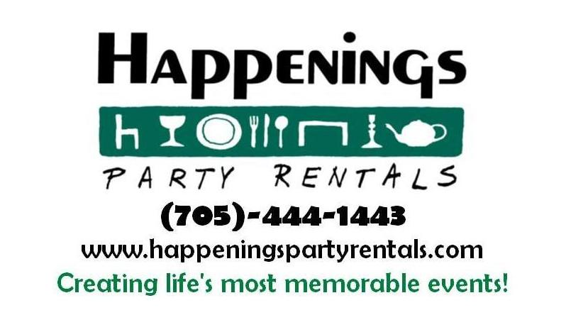 SPONSOR - Happenings Party Rentals - Logo