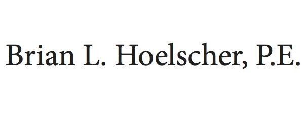 Special Sponsor - Brian Hoelscher, P.E. - Logo