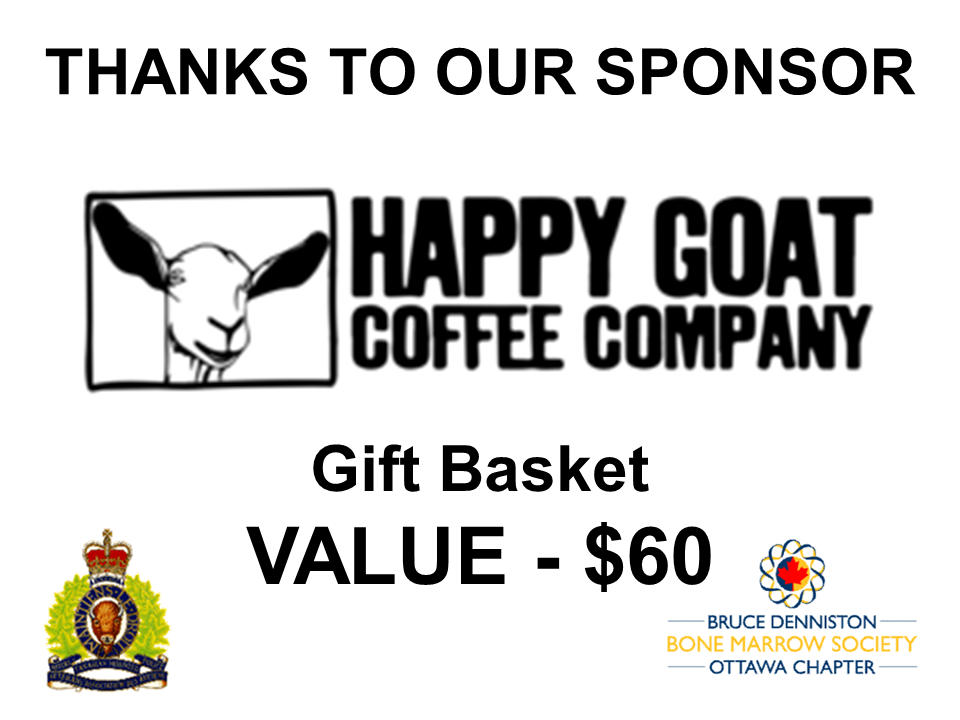 PRIZE DONATION ( $75 > $125) FOR CONTEST WINNER(S)  - Happy Goat Coffee - Ottawa - Logo