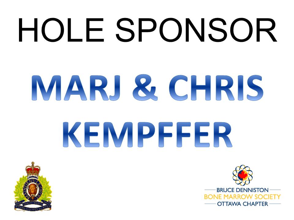 HOLE SPONSOR - KEMPFFER, Chris & Marj - Logo