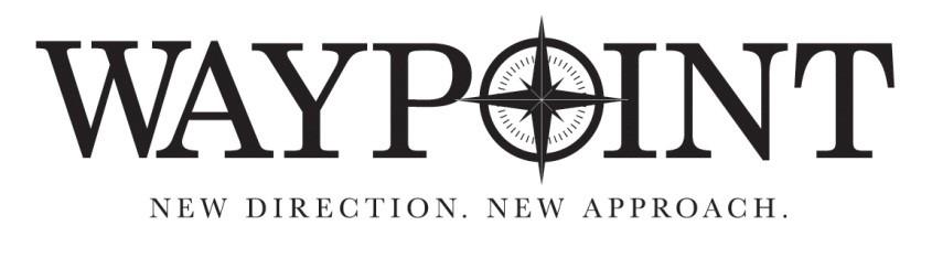 19th Hole Party Sponsor - Waypoint Advisory Services - Logo