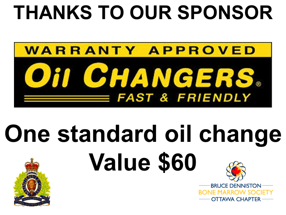 PRIZE DONATION ( $75 > $125) FOR CONTEST WINNER(S)  - Oil Changers - Logo