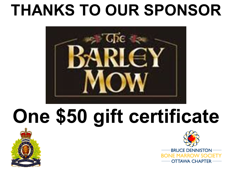 PRIZE DONATION ( $75 > $125) FOR CONTEST WINNER(S)  - Barley Mow - Logo
