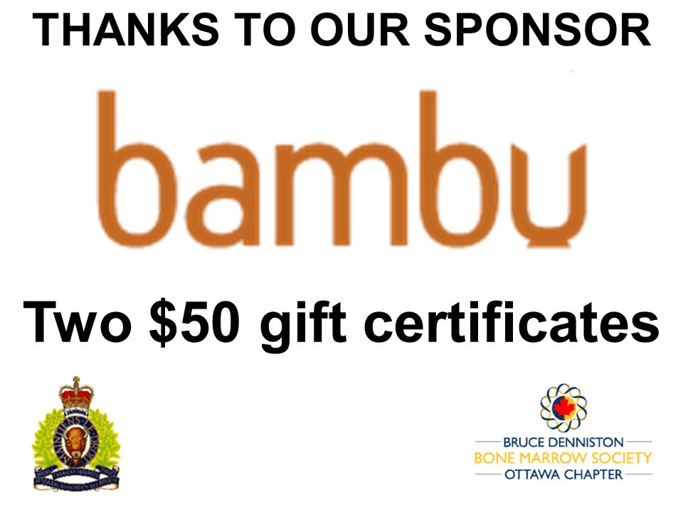 PRIZE DONATION ( $75 > $125) FOR CONTEST WINNER(S)  - Bambu Restaurant - Logo