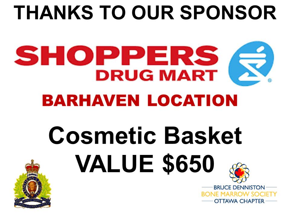 PRIZE TOKEN SPONSOR ($300 >$3,000.00) - Shoppers Drug Mart - Barrhaven - Logo