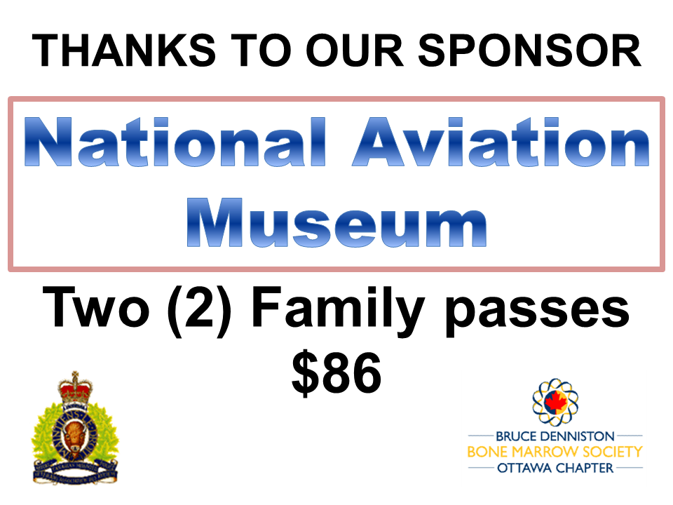 PRIZE DONATION ( $75 > $125) FOR CONTEST WINNER(S)  - NATIONAL AVIATION MUSEUM - Logo