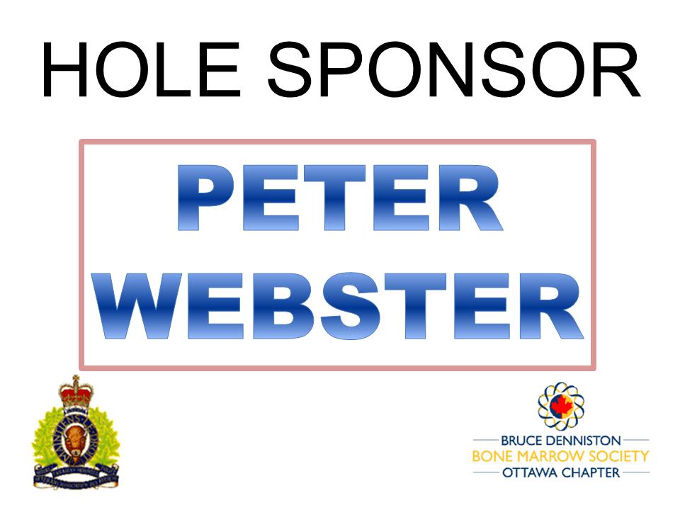 HOLE SPONSOR - PETER WEBSTER - Logo