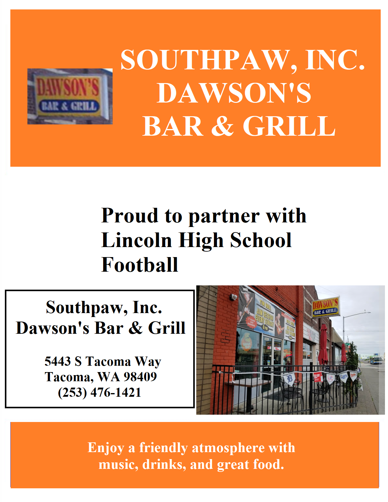 Southpaw, Inc. Dawson's Bar & Grill
