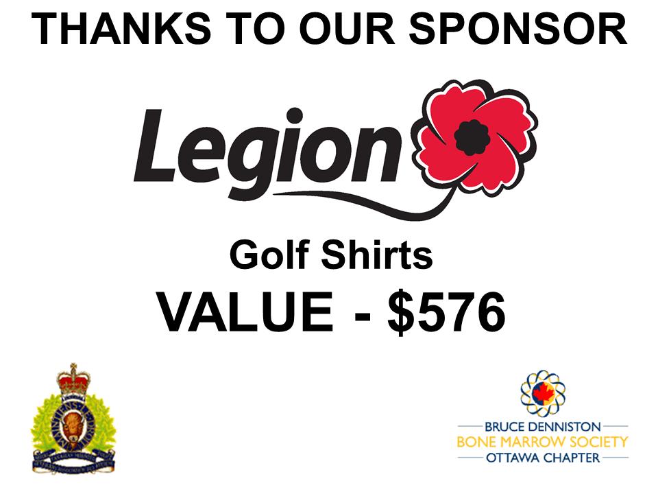 PRIZE DONATION ( $75 > $125) FOR CONTEST WINNER(S)  - LEGION DOMINION OFFICE (Ottawa) - Logo