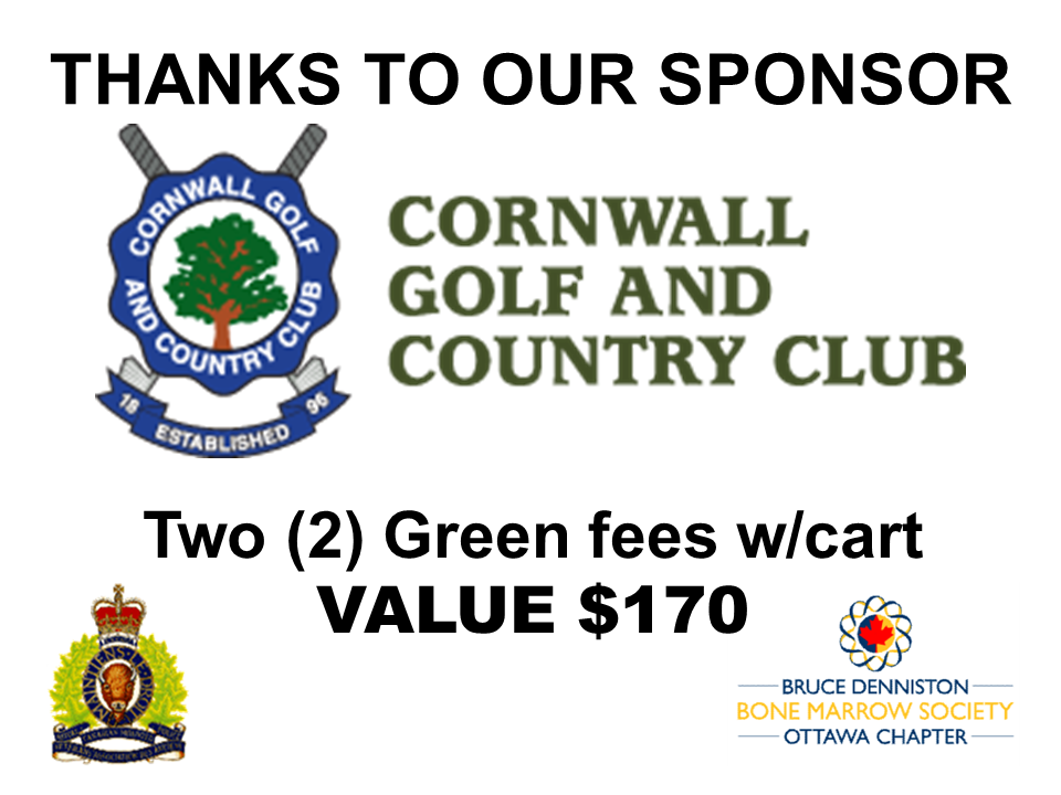 SILENT AUCTION SPONSOR - CORNWALL GOLF AND COUNTRY CLUB - Logo