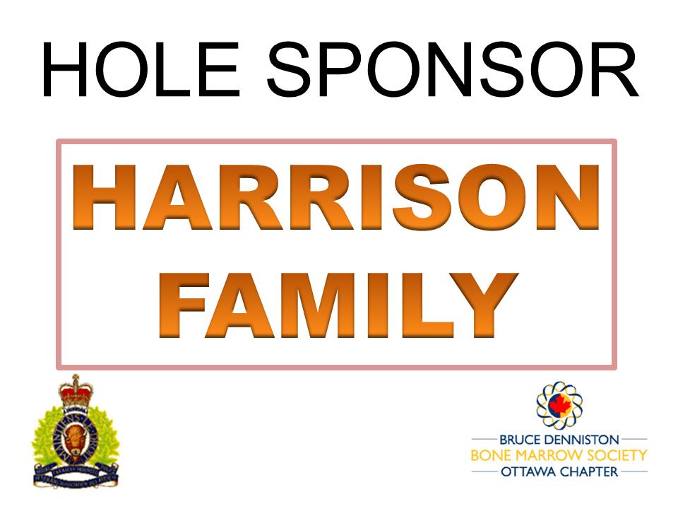 HOLE SPONSOR - HARRISON FAMILY - Logo