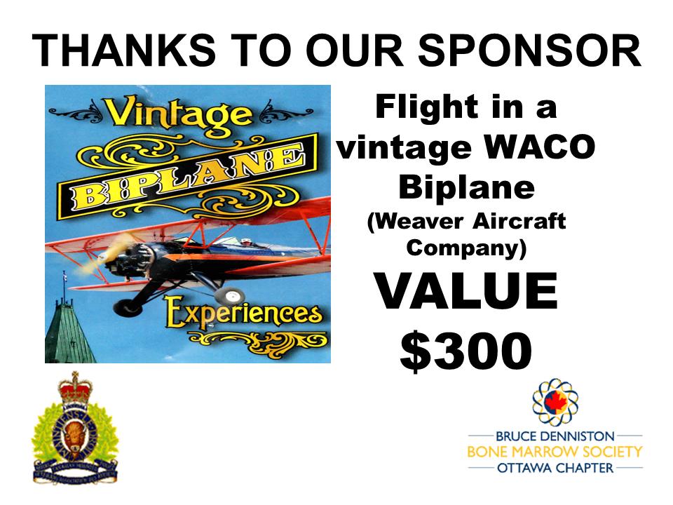 PRIZE TOKEN SPONSOR ($300 >$3,000.00) - VINTAGE BIPLANE EXPERIENCES - Logo