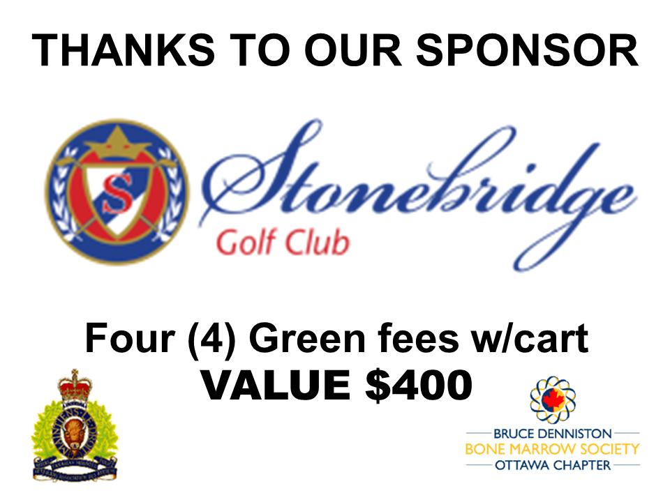 PRIZE TOKEN SPONSOR ($300 >$3,000.00) - STONEBRIDGE GOLF CLUB - Logo