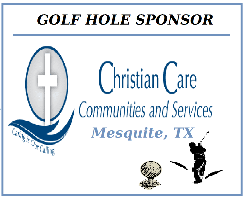 Golf Hole Sponsor - Christian Care Centers - Mesquite TX  - Logo