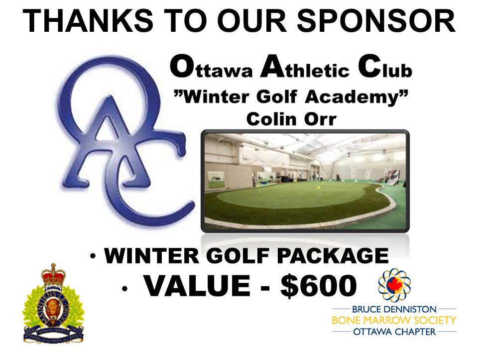 PRIZE TOKEN SPONSOR ($300 >$3,000.00) - OTTAWA ATHLETIC CLUB (OAC) - Logo