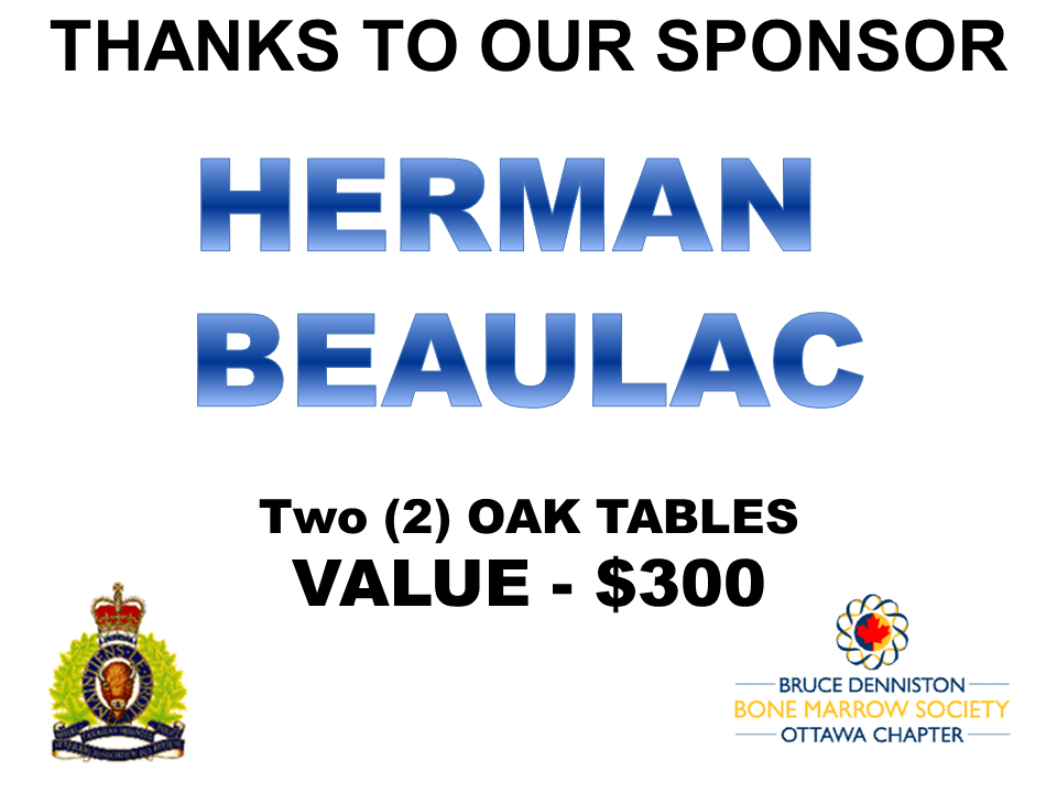PRIZE DONATION ( $75 > $125) FOR CONTEST WINNER(S)  - HERMAN BEAULAC  - Logo