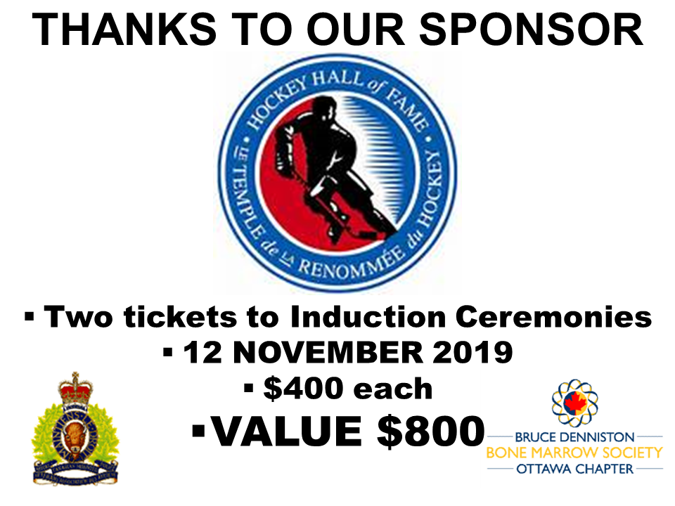 PRIZE TOKEN SPONSOR ($300 >$3,000.00) - HOCKEY HALL OF FAME - Logo
