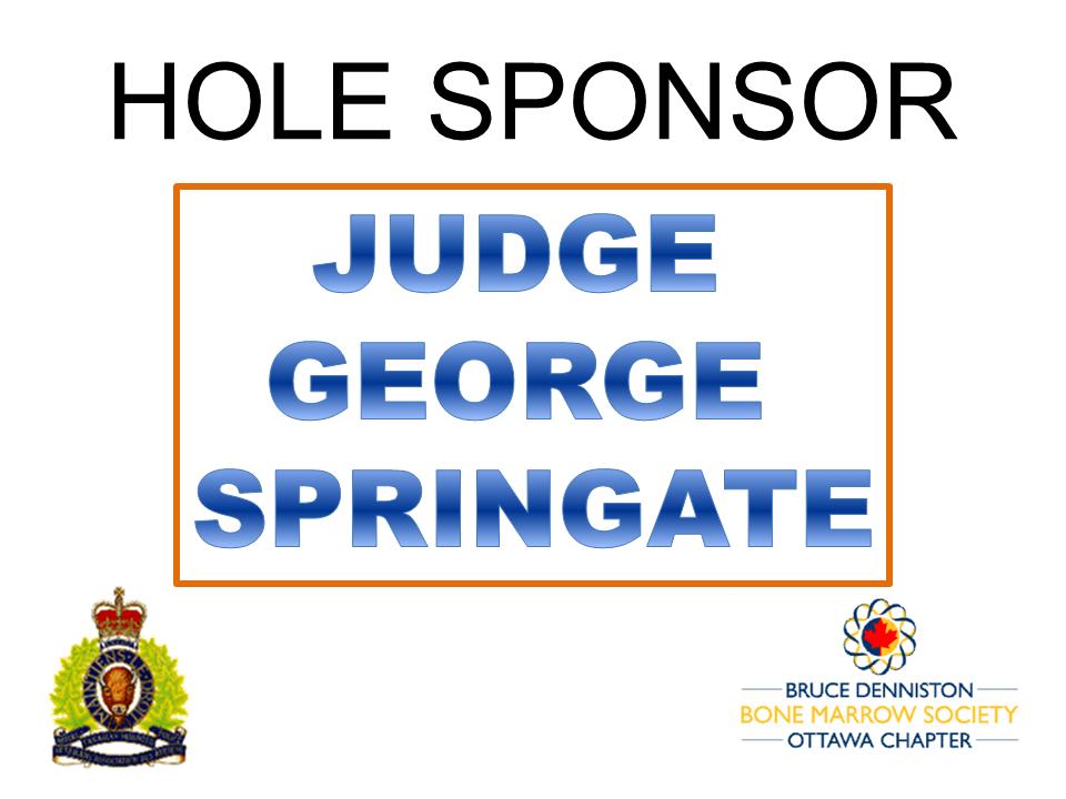 HOLE SPONSOR - JUDGE GEORGE SPRINGATE - Logo