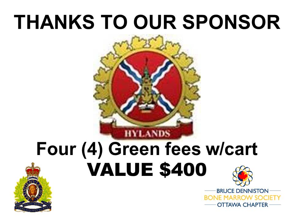 PRIZE TOKEN SPONSOR ($300 >$3,000.00) - HYLANDS GOLF CLUB OTTAWA - Logo