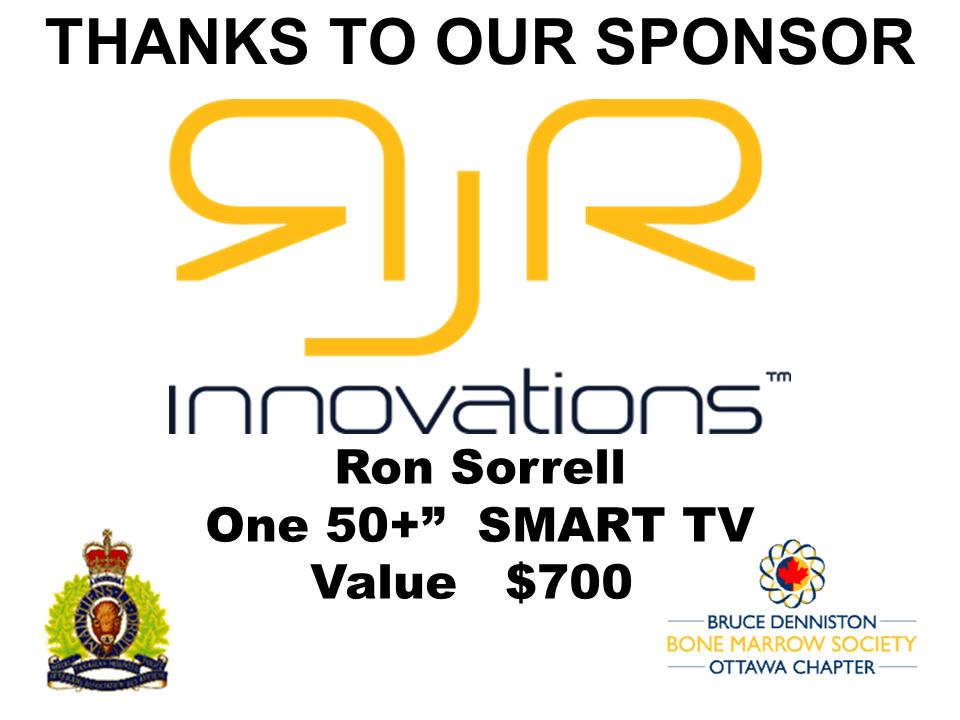 PRIZE TOKEN SPONSOR ($300 >$3,000.00) - RJR INNOVATIONS - RON SOREL - Logo