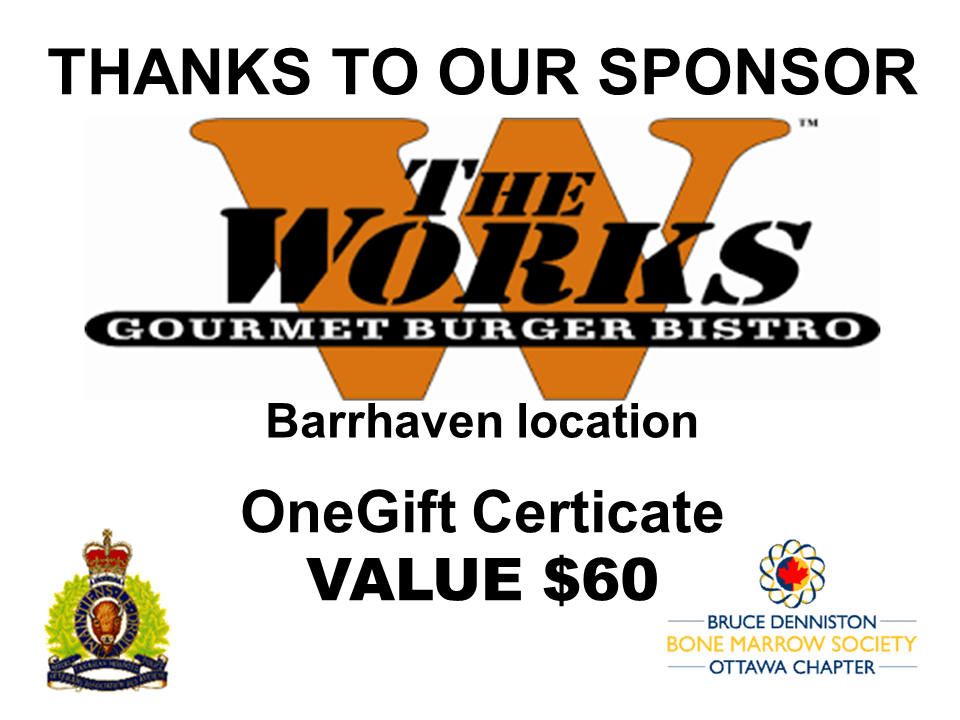 PRIZE DONATION ( $75 > $125) FOR CONTEST WINNER(S)  - THE WORKS BARRHAVEN - Logo