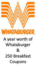 Silent Auction Donations - Whataburger - Logo