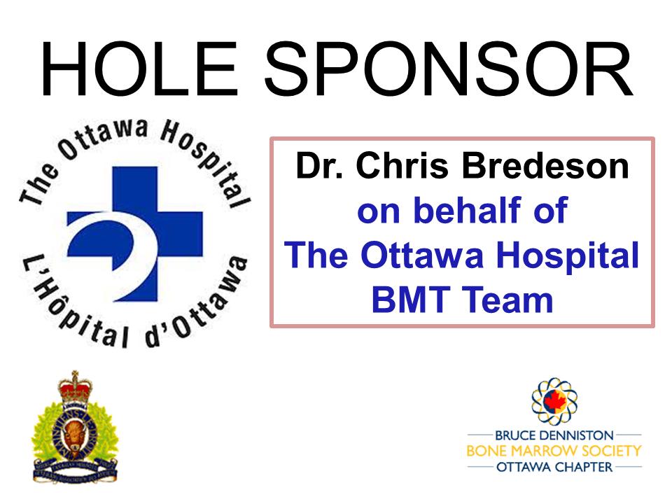 HOLE SPONSOR - THE OTTAWA HOSPITAL - DR. BREDESON - Logo
