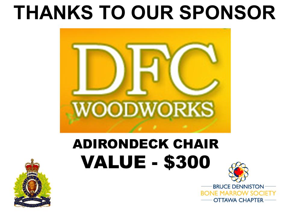 PRIZE TOKEN SPONSOR ($300 >$3,000.00) - DFC WOODWORKS - Logo