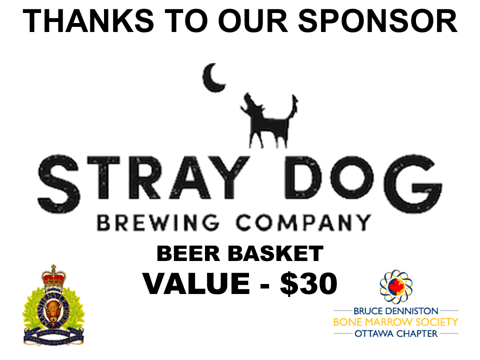 PRIZE DONATION ( $75 > $125) FOR CONTEST WINNER(S)  - STRAY DOG BREWING COMPANY - Logo